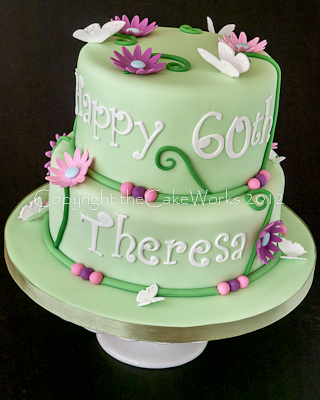 Birthday Party Ideas Floral Cake Design Butterflies 60th