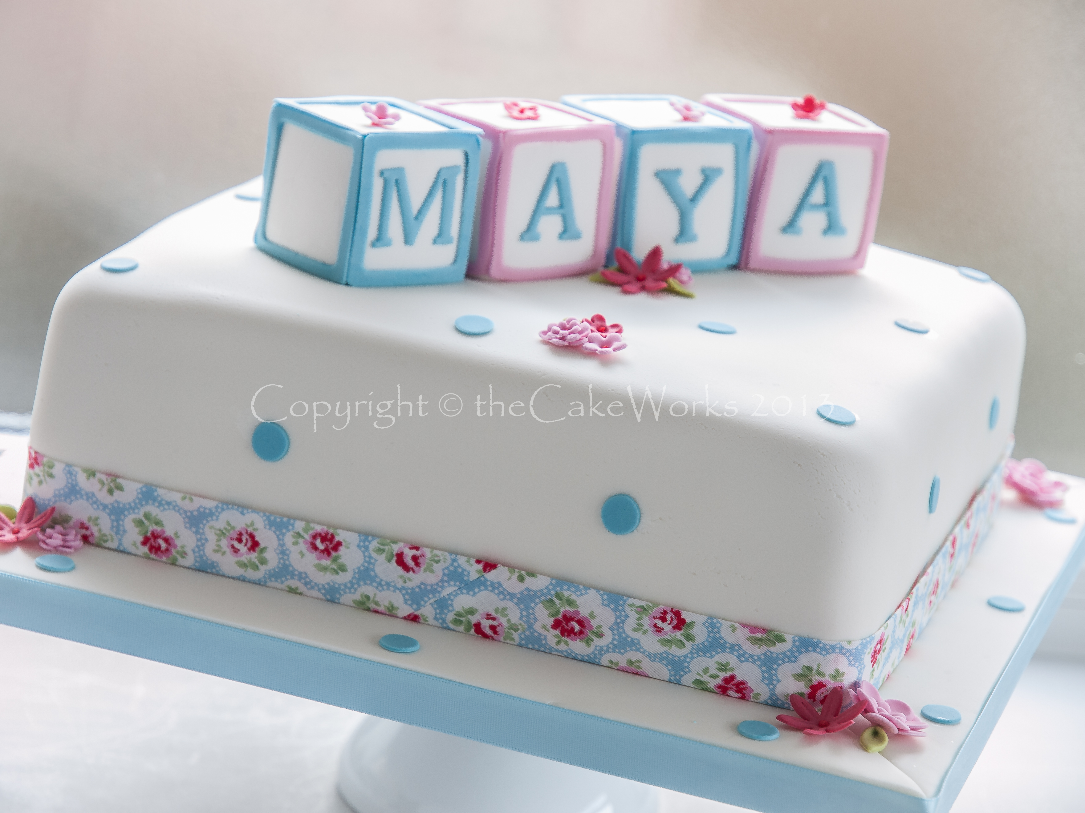 Christening Cakes With Childrens Toy Blocks